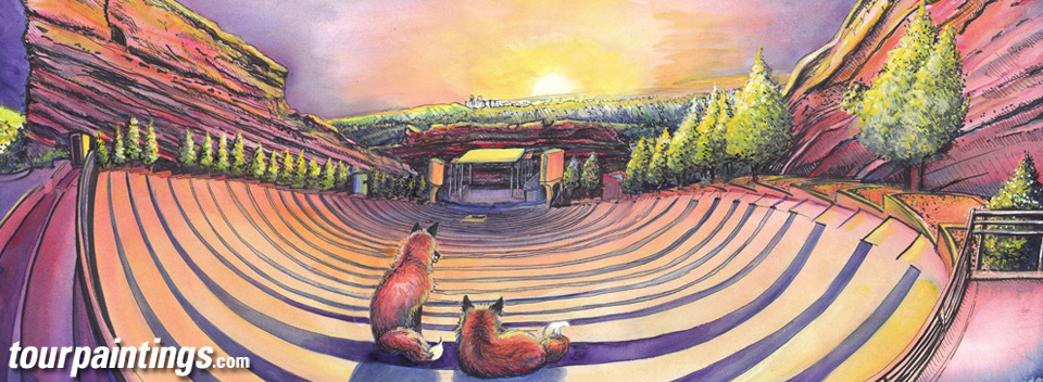 Red Rocks Sunrise or The Foxes